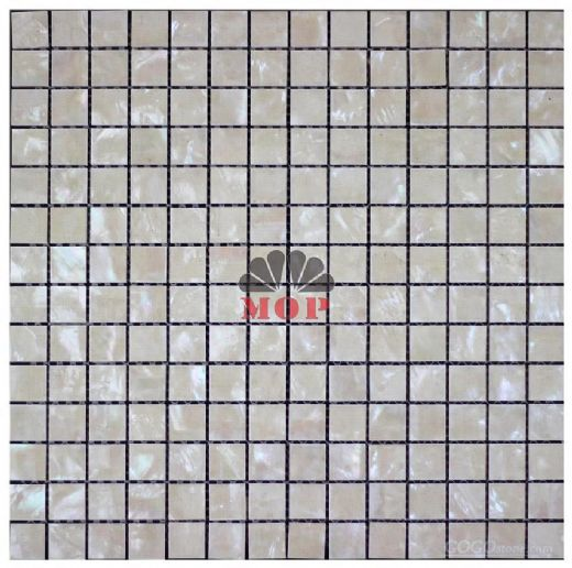 river natural square mesh tile decoration shell pearl mosaic