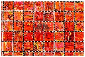 shell dyed oyster wall mosaic tiles for kitchen