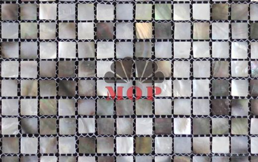Cheap black lip shell sea mosaic marble for countertops