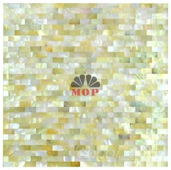 sea pearl marble board tile mosaic yellow lip shell for kitchen