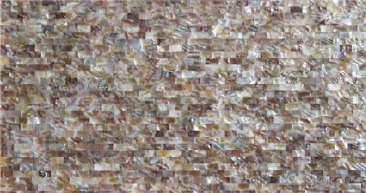 river wall tile shell mosaic board