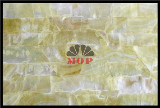 yellow shell paper decoration slab club