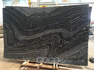 Silver Wave Marble Zebra Black Marble
