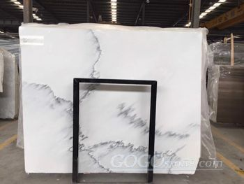 Calacatta Grey Marble Chinese Ink Wash Marble
