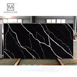 New beautiful design black and white color quartz stone slab