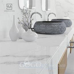 Quartz Stone Solid Surface Calacatta Vanity Top