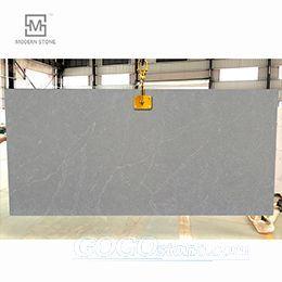 Grey quartz stone with white veins quartz slabs