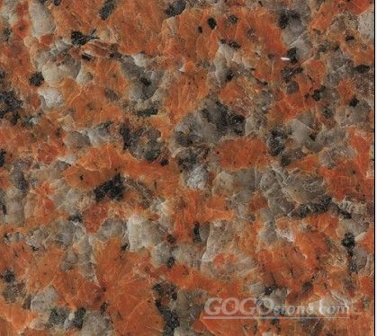 Maple Leaf Red Granite Slab