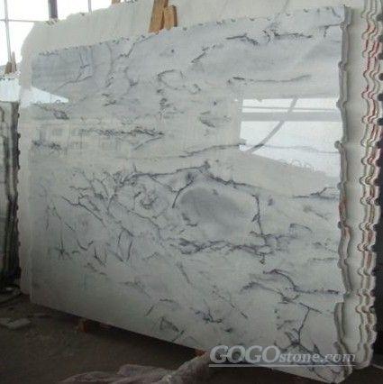 Landscape white marble