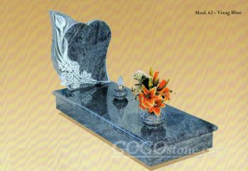 Blue Granite Tombstone