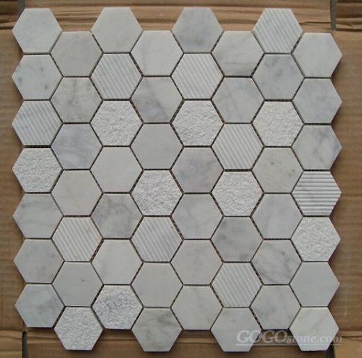 Carrara 4.4cm Hexagon