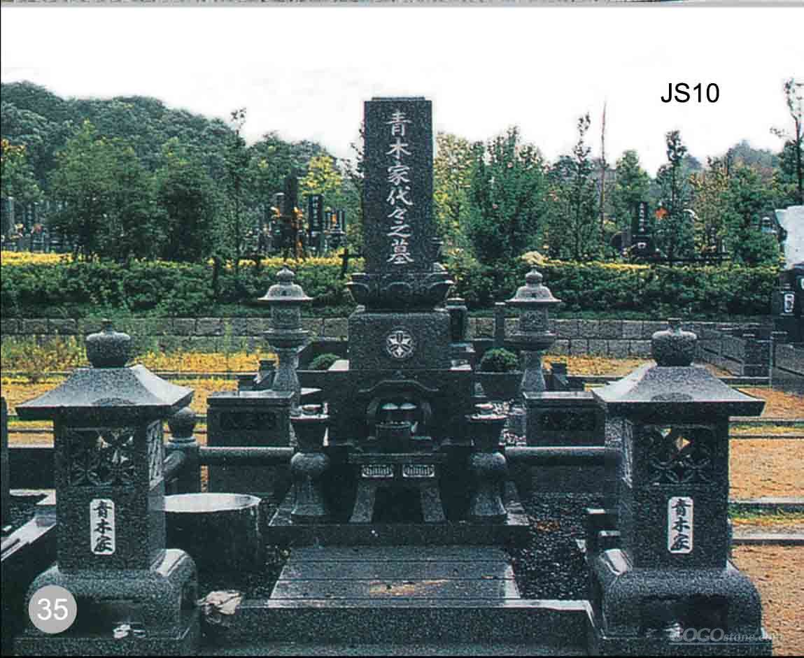 Japanese style granite tombstone JS-10