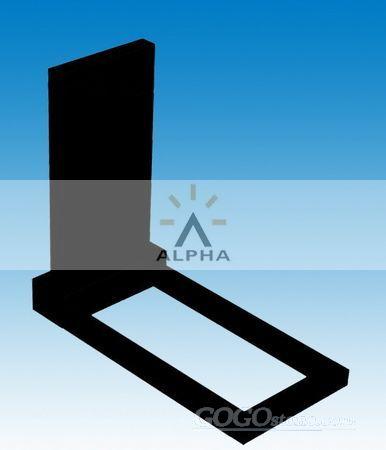 black granite Russia style tombstone