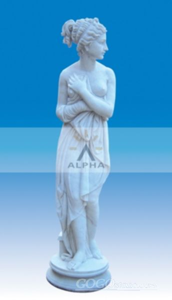 Marble statue of Pandora