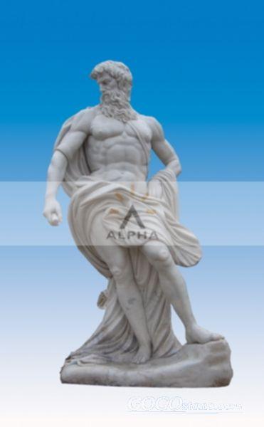 marble Neptune statue