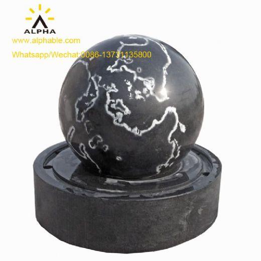 World map design Rotating granite ball fountain