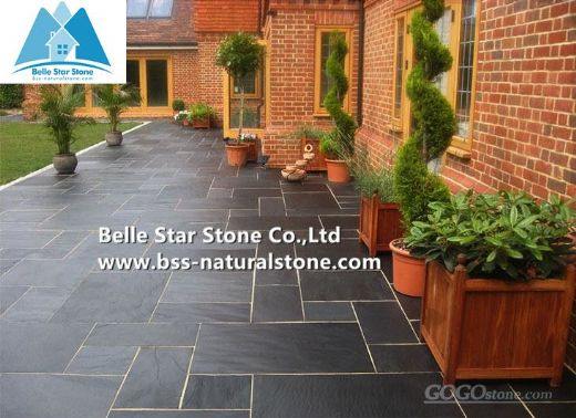 Black slate pavers,patio stones,stone pavers
