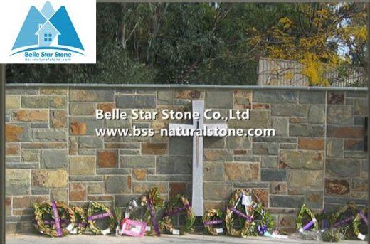 Multicolor slate mushroom stone,slate stone wall tiles,slate stone cladding,landscaping stones