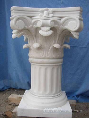 white marble greek Corinthian column pillar
