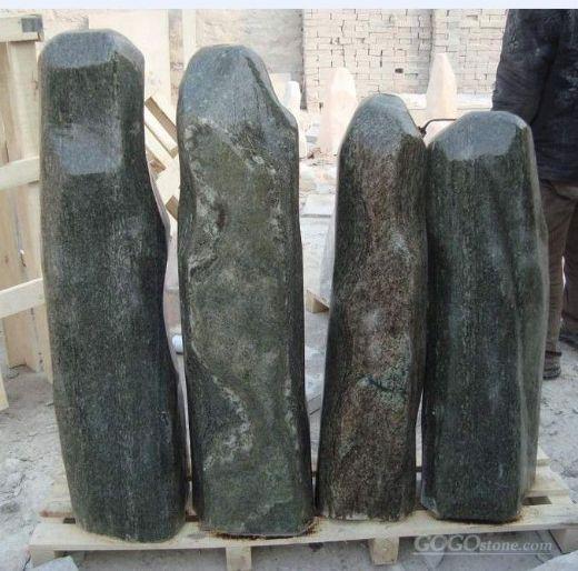 natural stone garden monolith