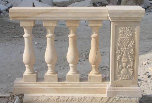 handcarved marble balustrade