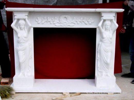marble stone fireplace mantel