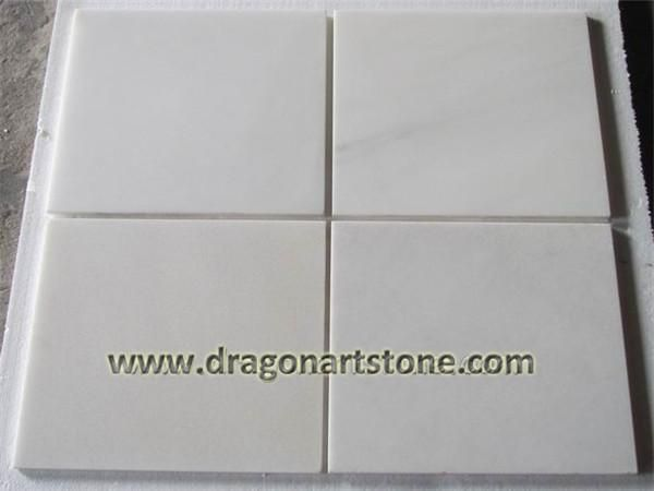 pure white marble tile