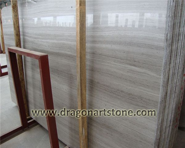Gray wood grain marble slab