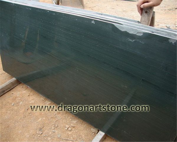 Green wood grain marble slab