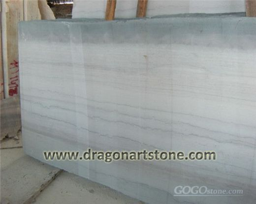 Beige wood grain marble slab