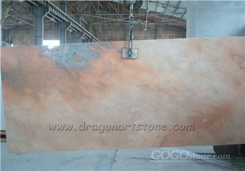 Chinese sunset red marble