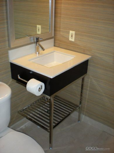 Floor mounted bathroom furniture
