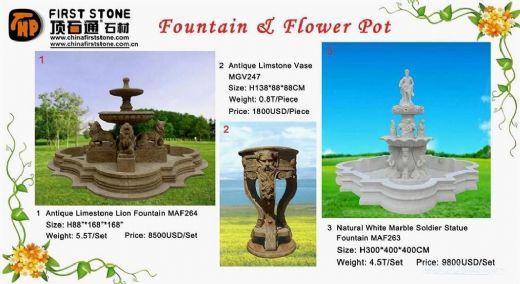 Fountain & Flower Pot