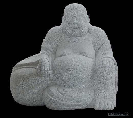 White Granite Buddha Carvings GGP184