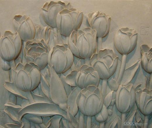 Marble Lotus Carvings MGS096