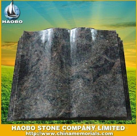 Granite Tombstone with Book Design HB
