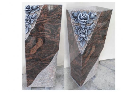 Aurora Flower Design Granite Monument Supplier HB
