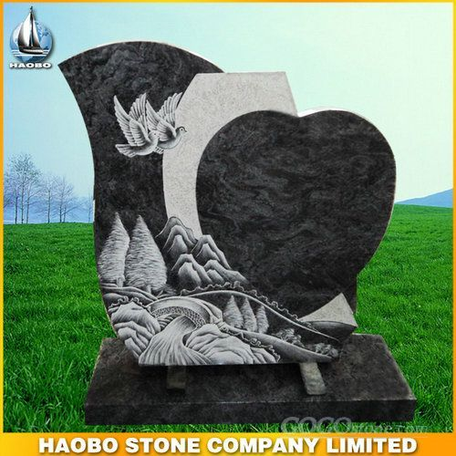 Granite Headstone with special design