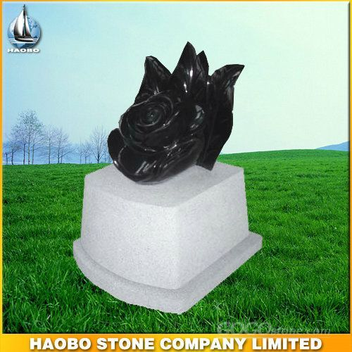 Spanish black granite monument
