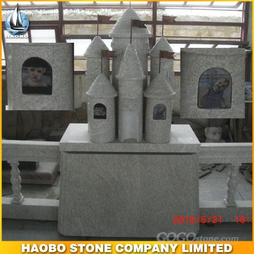 Spanish granite monument with castle shape