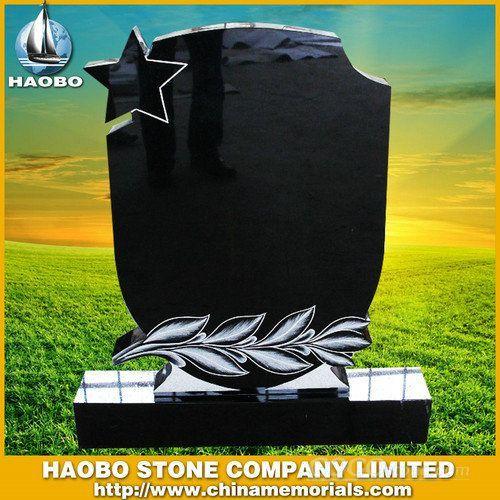 black granite monument tombstone