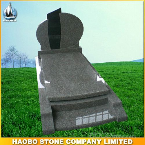 Black and Grey Granite Tombstone