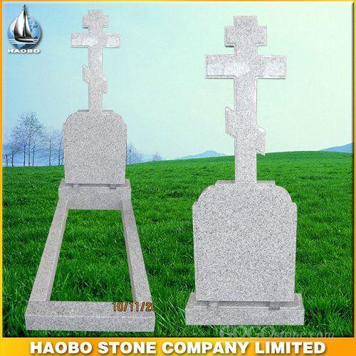G603 Grey Granite Cross Monument Tombsone