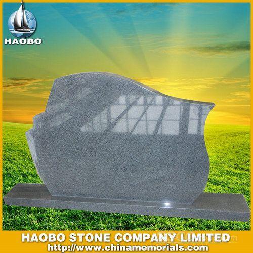 Grey Granite Simple Tombstone