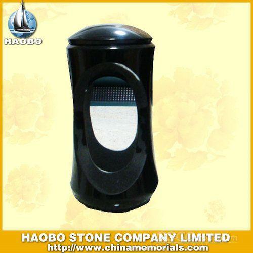 Black Granite Candle Lamp for Funeral