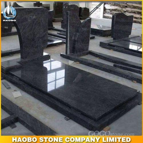 Blue Granite Tombstone