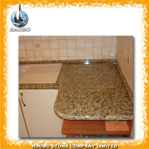 Tiger Skin Yellow Kitchen Cabinet Table Top Vanity Top Supplier