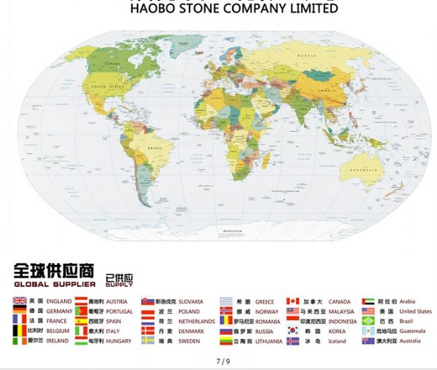 Haobo Sales to Worldwide countries