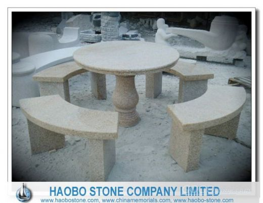 Granite Garden Table and Chair