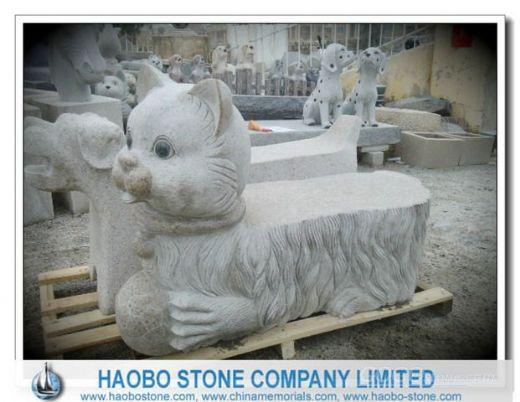 动物雕刻石椅